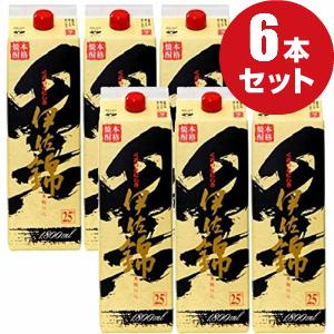 ふるさと割 ケース販売 あす楽対応 内祝い 黒伊佐錦 1.8Lパック 鹿児島で黒麹といえばコレ 6本 アルコール25%