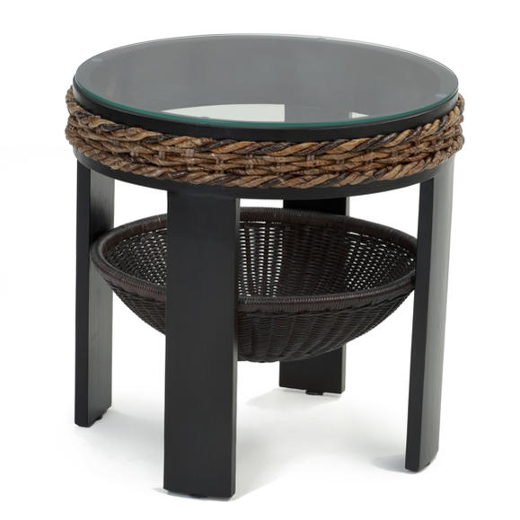 Landmark Rakuten Global Market Asian Furniture Rattan Banana Leaf - Banana leaf coffee table