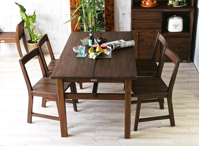 4 Person Dining Set For Dining 5 Point Set Teak Solid Wood Dining Chair  Table