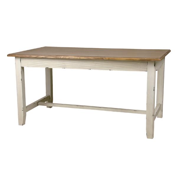 blossom ダイニングテーブル パイン材 ホワイト アンティーク フレンチ カントリー AZCOL017