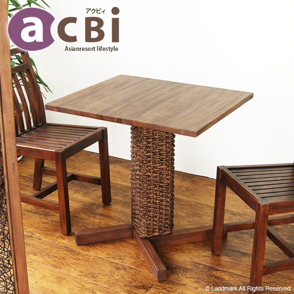 Asian Furniture Table Café Table Dining Table Desk Width 70 Cm Cafe Tables  Side Table Square Shaped Square Teak Solid Wood Water Hyacinth Nordic @CBi  Actby ...