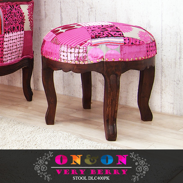 SEVILLA Stool Chair Chairs Wood Patchwork Velvet Interior Asian Furniture  Scandinavian Mid Century UK Classic Bohemian Pink Stylish DLC400PK ON U0026ON  2014, ...