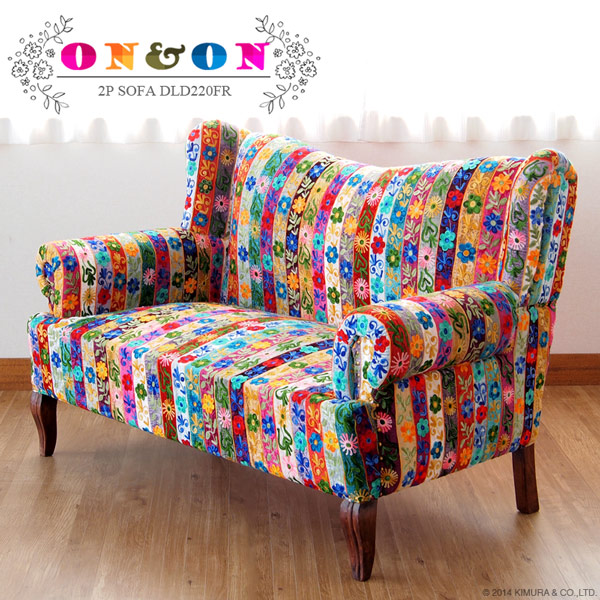Sofa Couch Chair 2 P Two People For Patchwork Velvet Asian Furniture Uk Clic Bohemian Chesterfield Antique Nordic Pun Flores Dld220fr On