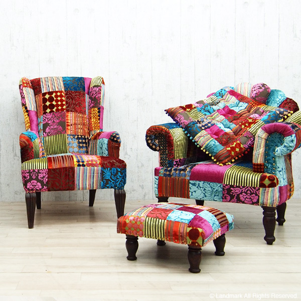 SEVILLA ottomansutsurufuttochiea椅子拼凑细工沙发天鹅绒海暹罗竹荚鱼安UK古典波希米亚人布鲁克林重新流行沙发漂亮的DLR070ML ON&ON