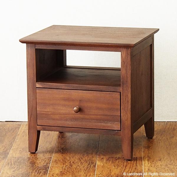 アジアン家具 サイドテーブル ナイトテーブル チーク無垢 テレビ台 棚 収納 机 テレビ台 チーク 無垢 木製 アジアン G670KA