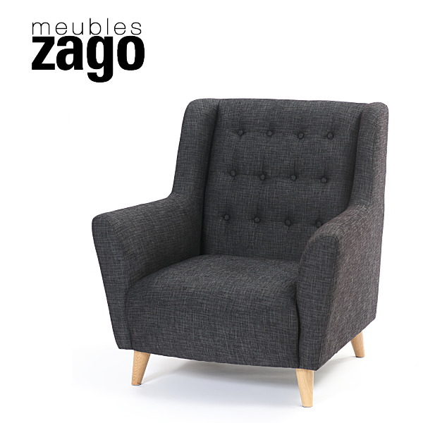 ZAGO ボードルーム ソファ1人掛け デザイナーズソファ 【2】ダークグレー