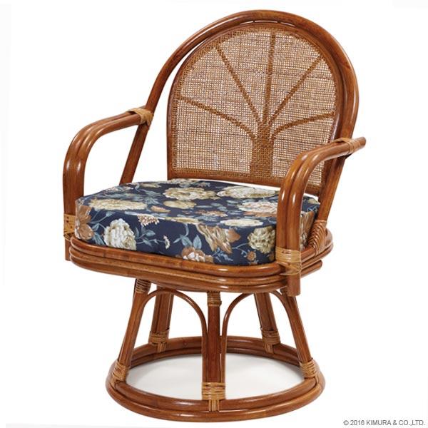 【あす楽】回転椅子 C723HRA1 エクストラハイタイプ 背クッション無し 回転チェア 回転座椅子 楽座椅子 籐 ラタン 格安 和 座椅子 アジアン CT14 CT17