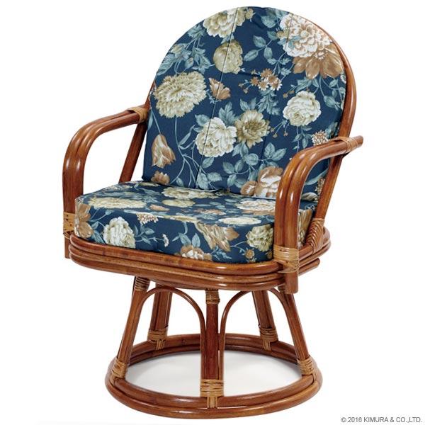 【あす楽】回転椅子 C723HRAS エクストラハイタイプ 回転チェア 回転座椅子 楽座椅子 籐 ラタン 格安 和 座椅子 アジアン  CT17