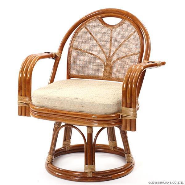 【あす楽】籐回転座椅子 ラタン回転座椅子 エクストラハイタイプ 回転椅子 回転チェア ラタン 籐 回転チェア ラタン 格安和 和風 アジアン CT15 C843HRH1