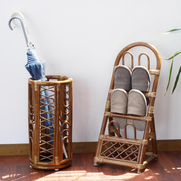 拖鞋框藤家具: 亚洲的天然的材料拖鞋收藏R08HR藤家具竹荚鱼安杂货CT17