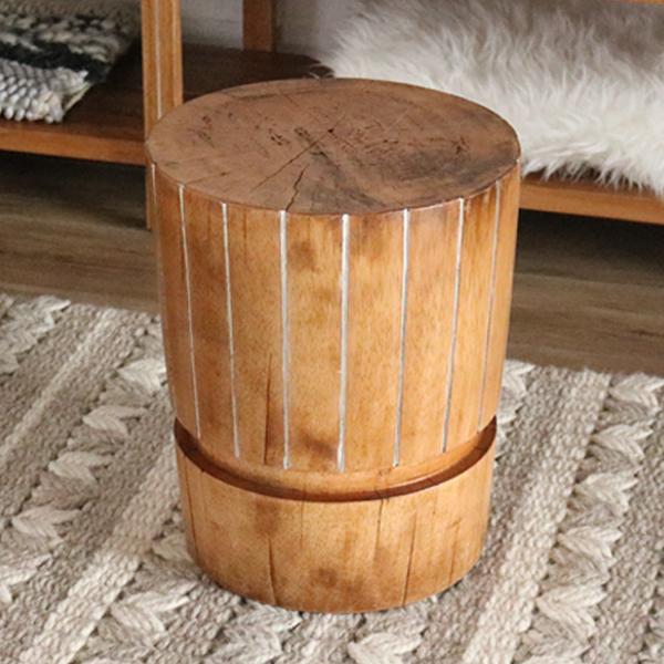 スツール 木製 カジュアル チェア 椅子 ハワイアン アジアン 南国 リゾート アジアン家具 無垢 Ohana 2020年新商品 C460AS