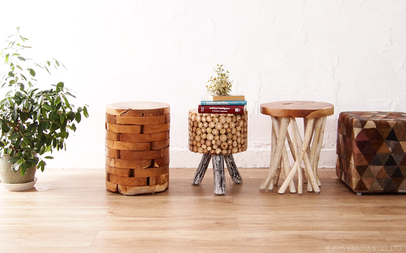 (Actby) On @CBi Side Table Nightstand Table Spice (spice) Solid Wood