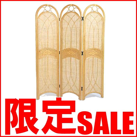 【あす楽】ラタンスクリーンパーティション 3連 アジアン 和風 雑貨 日本 S700H CT17