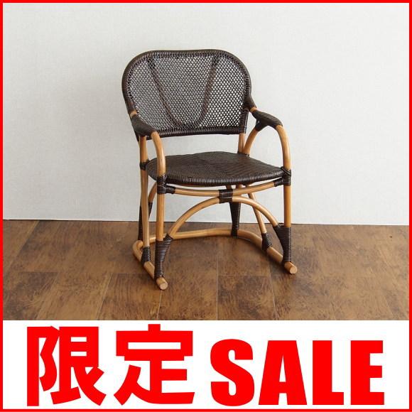 【あす楽】アジアン家具 チェア 椅子 パーソナルチェア アームチェア ラタン 籐 木製 エスニック インテリア 和風 旅館 チョコレートブラウン ハイバックチェア C117CB CT17
