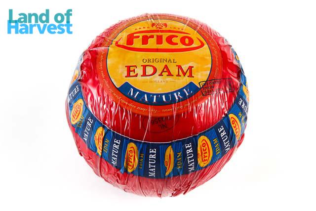 フリコはオランダNo.1メーカーが展開するチーズブランド 最新号掲載アイテム ミルキーであっさりとした風味で赤玉の愛称で親しまれています オランダ フリコ エダムチーズ ハード 約1.5Kg 卸価格 エダム 新品 送料無料 1kg当たり税抜2400円 不定貫 税込2592円 チーズ