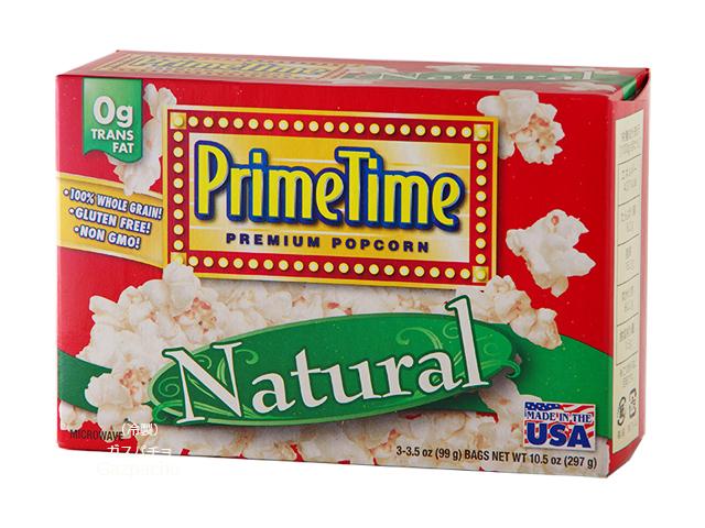 電子レンジで手軽に作れるシンプルな塩味のポップコーンです できたての香ばしいポップコーンが楽しめます プライムタイム マイクロウェーブ ポップコーン ナチュラルうす塩味 297g 25%OFF 配送員設置送料無料 PrimeTime 99g×3袋