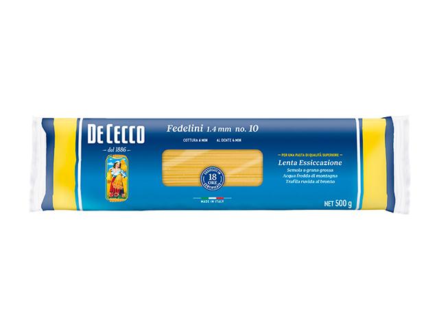 定番人気のディチェコ やや細めの万能ロングパスタ ディチェコ No.10 フェデリーニ 公式通販 500g 1.4mm CECCO_it 全商品オープニング価格 DE