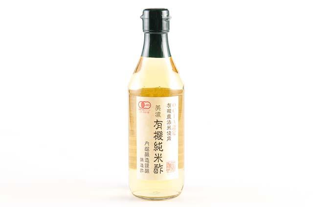 早割クーポン 有機米 良質な水 米麹を使い 伝統的技法 多段仕込み を用いた酒 酢もろみ 返品不可 内堀醸造 造りの工程を経て酢に醸造しています 360ml まろやなか風味が特長です 有機純米酢 美濃