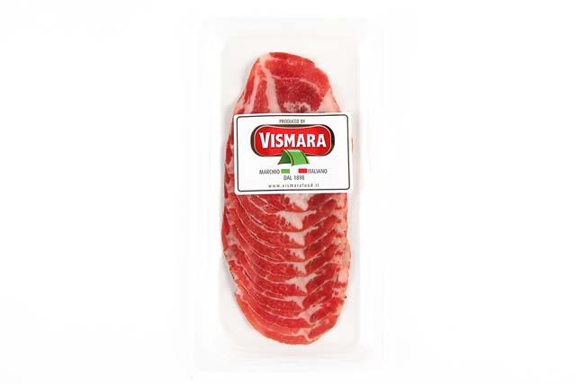 税込6 980円以上で送料もクール便も無料 厳選された豚肩肉を熟成 新作入荷!! 乾燥させた生ハムの 使い易いスライスタイプです ヴィスマラ コッパ 60git スライス 感謝価格