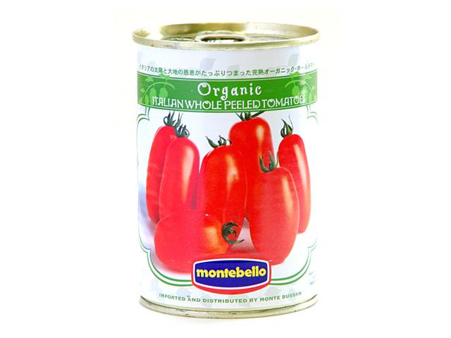 税込6 980円以上で送料もクール便も無料 イタリアの太陽の恵みをたっぷりと受けた完熟有機トマトを使用 モンテベッロ 400git 激安通販販売 ホールトマト 有機 贈物 オーガニック