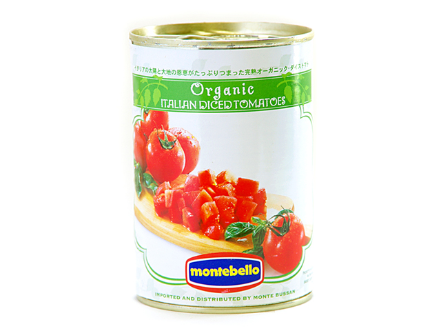 税込6 人気ブランド 980円以上で送料もクール便も無料 イタリアの太陽の恵みをたっぷりと受けた完熟有機トマトを使用 モンテベッロ 400g_it 有機 オーガニック ダイストマト 爆買いセール