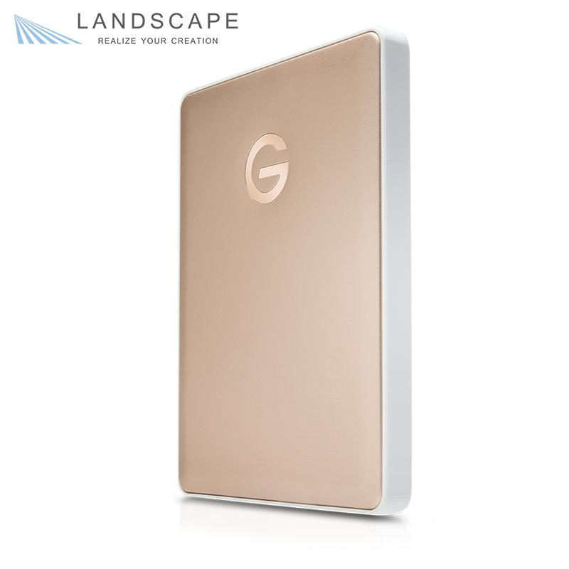 HGST G-Technology G-DRIVE mobile USB-C 2000GB Gold JP 〔0G10340〕
