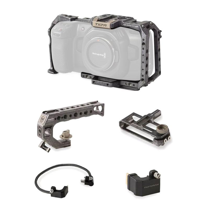 TILTA Basic Package for BMPCC4KBMPCC 4K用カメラケージ ベーシックキットTilta Gray(TA-T01-B)