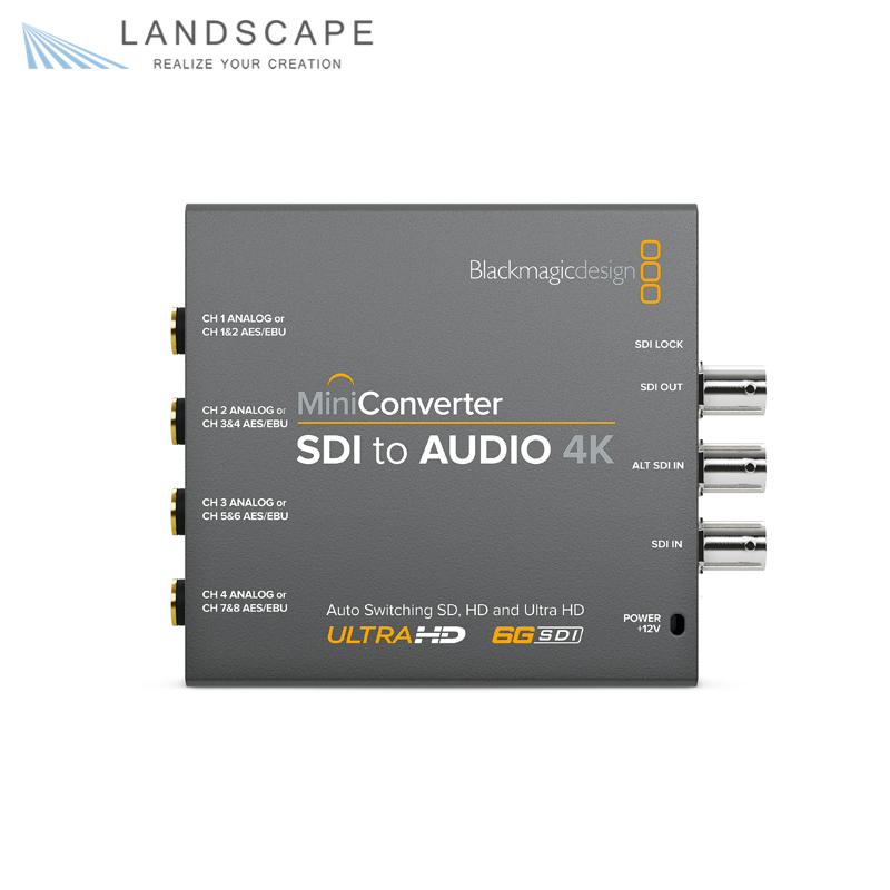 Mini 4K Converter Blackmagic SDI Audio Design to