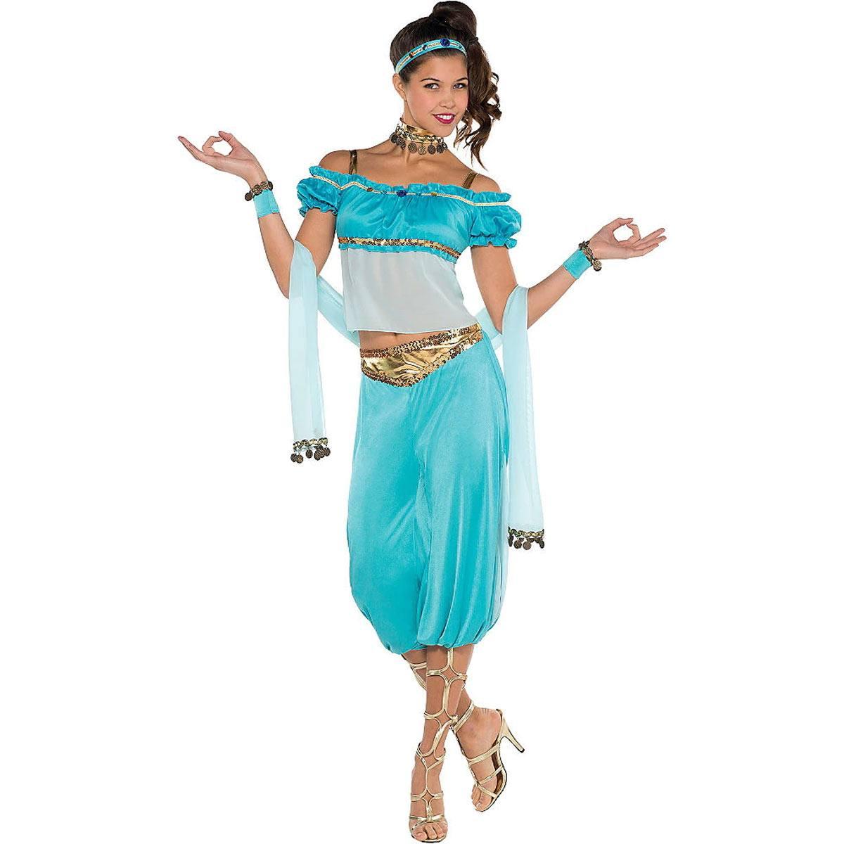 アラジン ジャスミン 衣装 大人用 コスプレ ハロウィン ディズニー ドレス 仮装 Aladdin