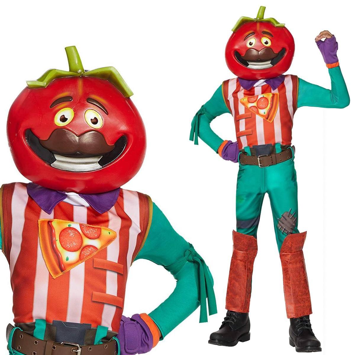 フォートナイト コスプレ トマトヘッド 子供用 コスチューム 服 グッズ スキン 公式 Fortnite