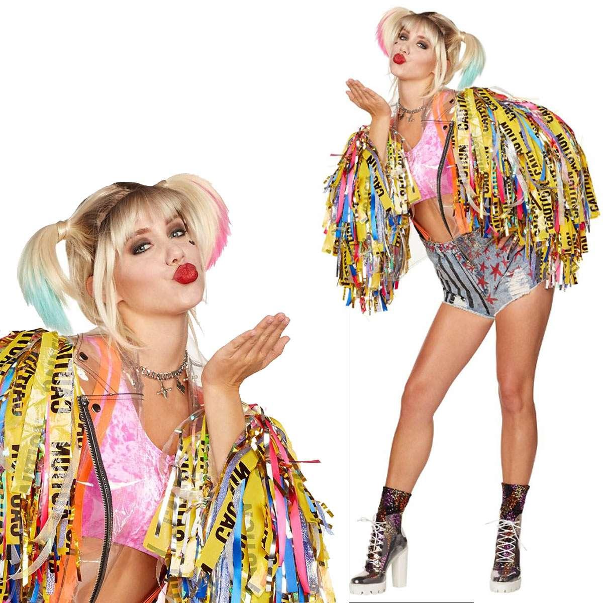 ハーレイクイン コスプレ 大人用 在庫あり コスチューム 仮装 覚醒 衣装 HarleyQuinn 女優 未使用品
