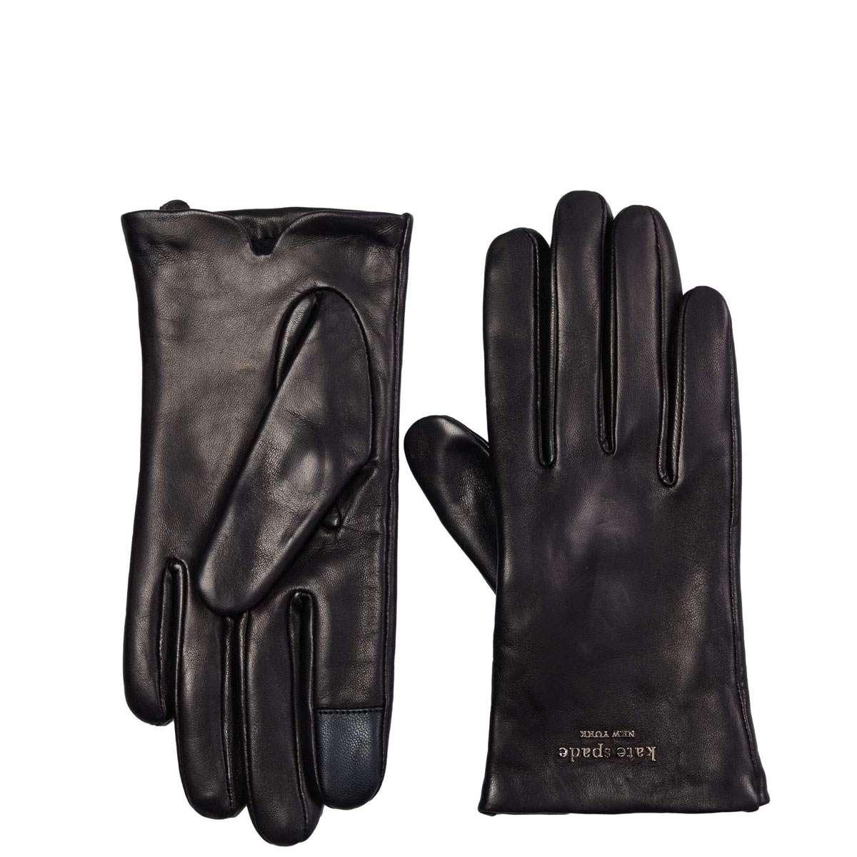 使い勝手の良い ケイトスペード 手袋 レディース ブランド 革 レザー SPADE KATE ブラック 激安セール NEW YORK 黒