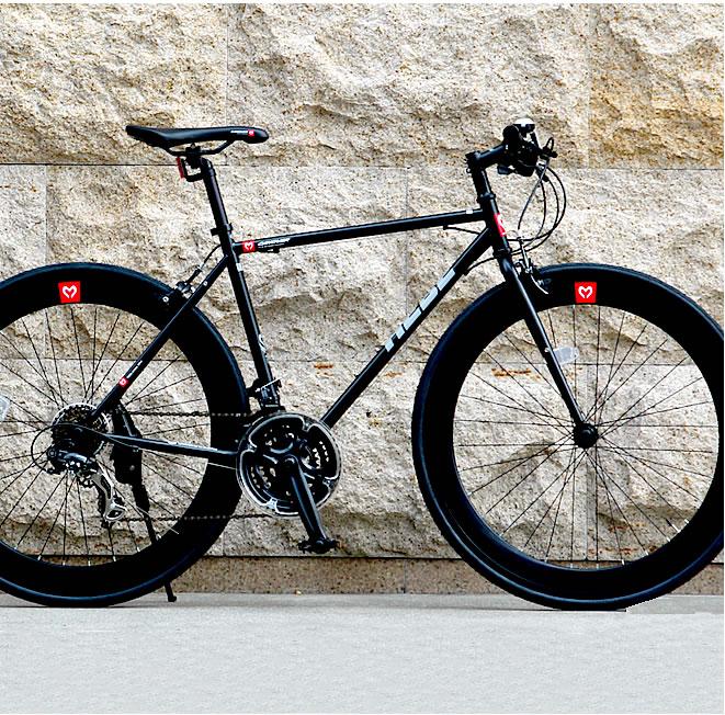 クロスバイク 軽量 クロモリ 700C 自転車 シマノ21段変速 カノーバー へーベー CANOVER HEBE 送料無料