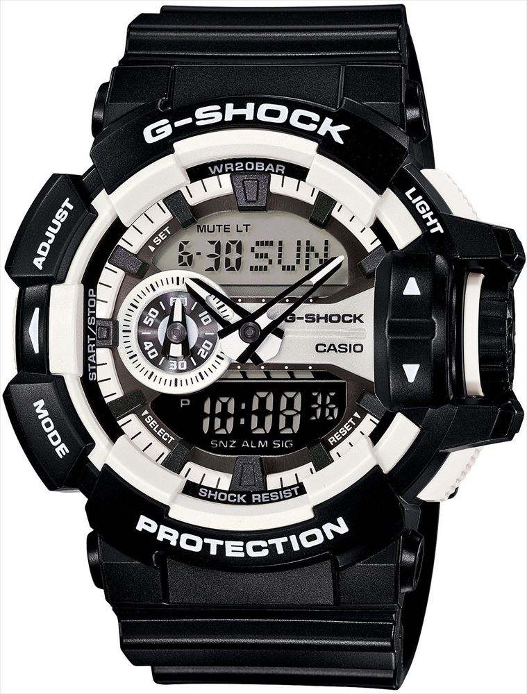 【送料無料】 【CASIO/カシオ】 G-SHOCK REF:GA-400-1AJF メンズ腕時計 新品 人気 ブラック/ホワイト