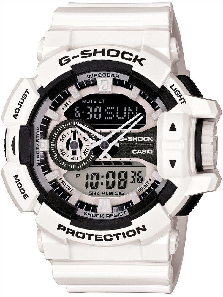 【送料無料】 【CASIO/カシオ】 G-SHOCK REF:GA-400-7AJF メンズ腕時計 新品 人気 ホワイト/ブラック