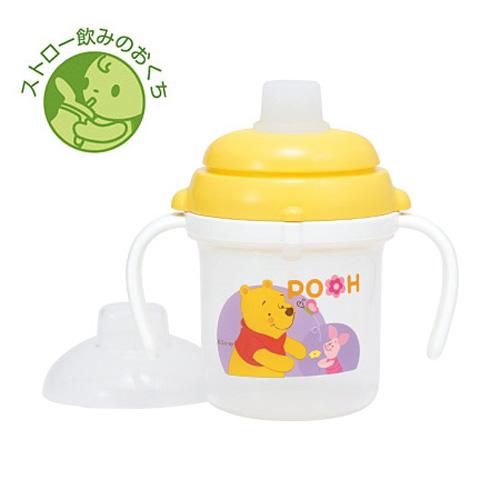 [Combi/康贝]teteo 小熊维尼马克杯/鸭嘴训练杯/婴儿训练杯/迪士尼系列 日本原装