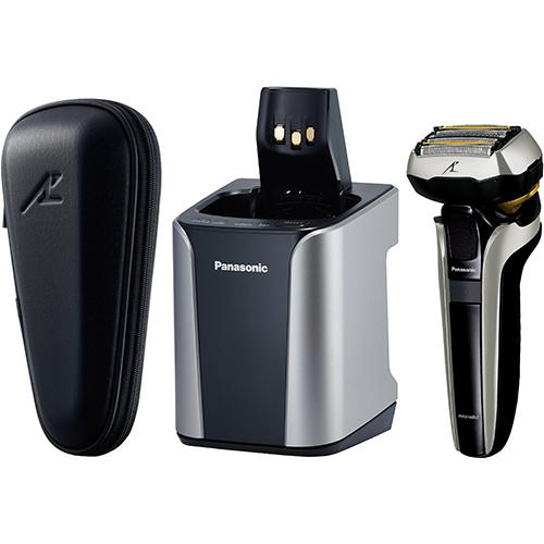 【送料無料】[Panasonic/パナソニック][LAMDASH/ラムダッシュ]電気シェーバー 5枚刃 ES-CLV9DX-S 全自動洗浄充電器 収納ケース付 シルバー調 [ESCLV9DXS]