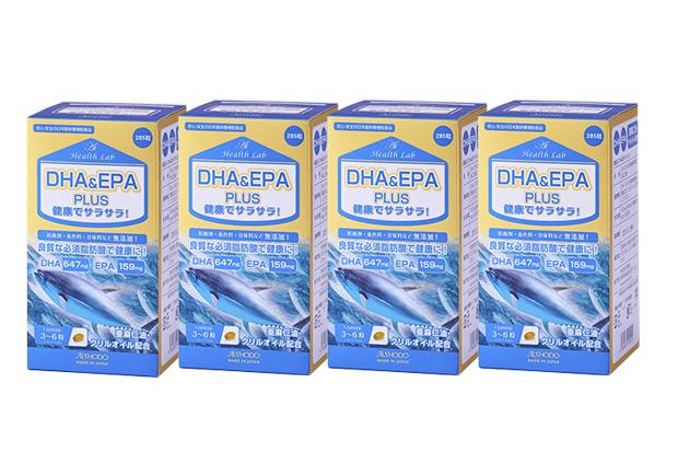 【4個セット】【送料無料】[AISHODO/愛粧堂][Ai Health Lab/アイヘルスラボ]DHA&EPAプラス(4個セット) ソフトカプセル 285粒x4DHA & EPA Plus