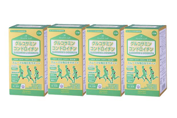 【4個セット】【送料無料】[AISHODO/愛粧堂][Ai Health Lab/アイヘルスラボ]グルコサミン &コンドロイチン(4個セット) タブレット 570粒x4Glucosamine & Chondroitin