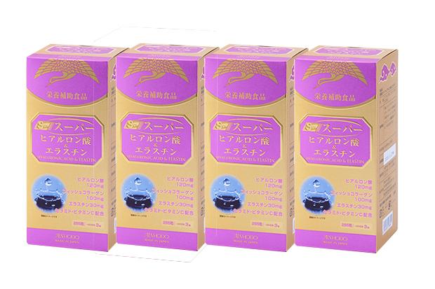 【4個セット】【送料無料】[AISHODO/愛粧堂][SUPER SERIES/スーパーシリーズ]スーパーヒアルロン酸&エラスチン 300mg×285粒×4箱