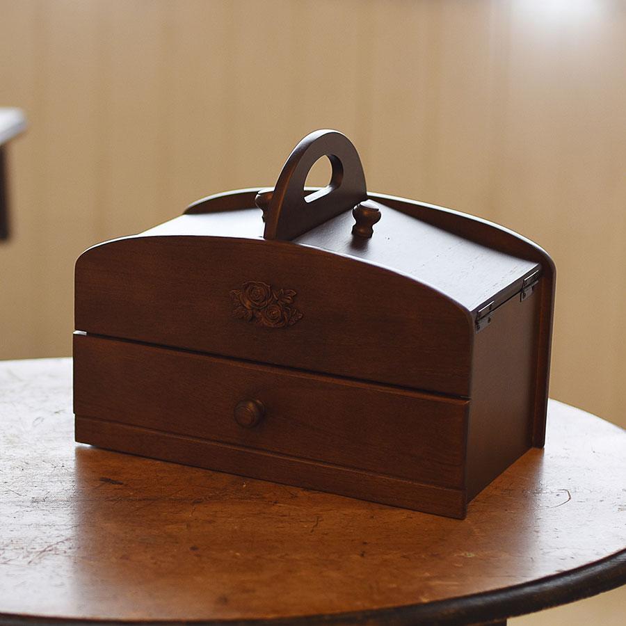 高品質はもちろんのこと 安心設計の国産木製ソーイングボックス 限定価格セール 20%ポイントバック 9 7 10:00~9 人気急上昇 21 9:59まで ーポン発行中 ソーイングボックス 日本製ソーイングボックス 母の日 ギフト 20-300 大容量 木製 誕生日 プレゼント お裁縫 入学式 裁縫箱