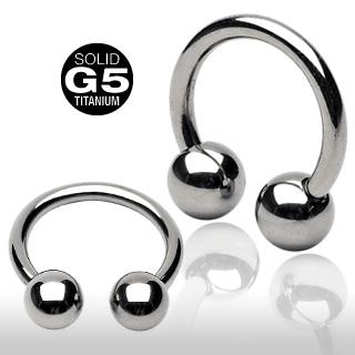 [16G][纯钛]圆形杠铃[车身无环耳环]