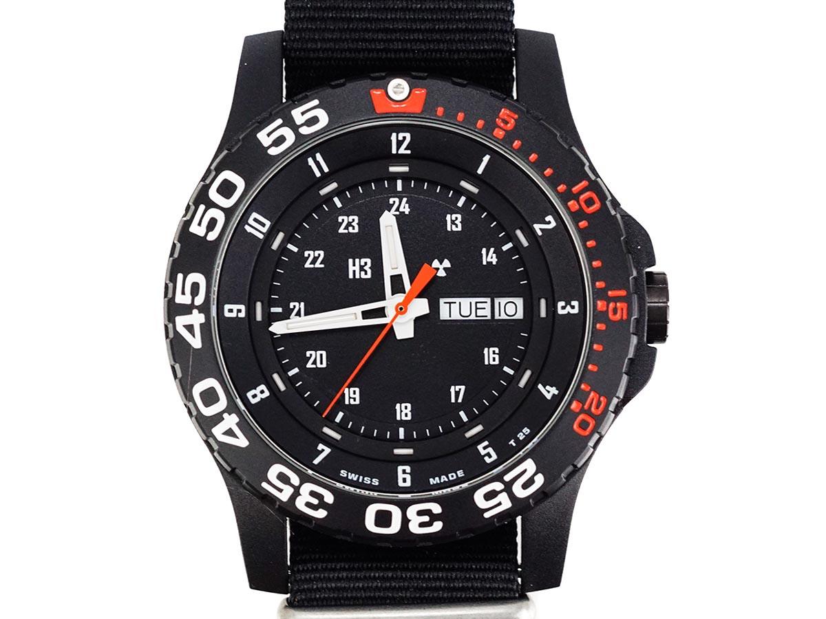 TRASER トレーサー メンズ腕時計 日本限定モデル 9031530 P6600 MIL-G RED ブラック×レッド ミリタリーウォッチ【送料無料 並行輸入品】
