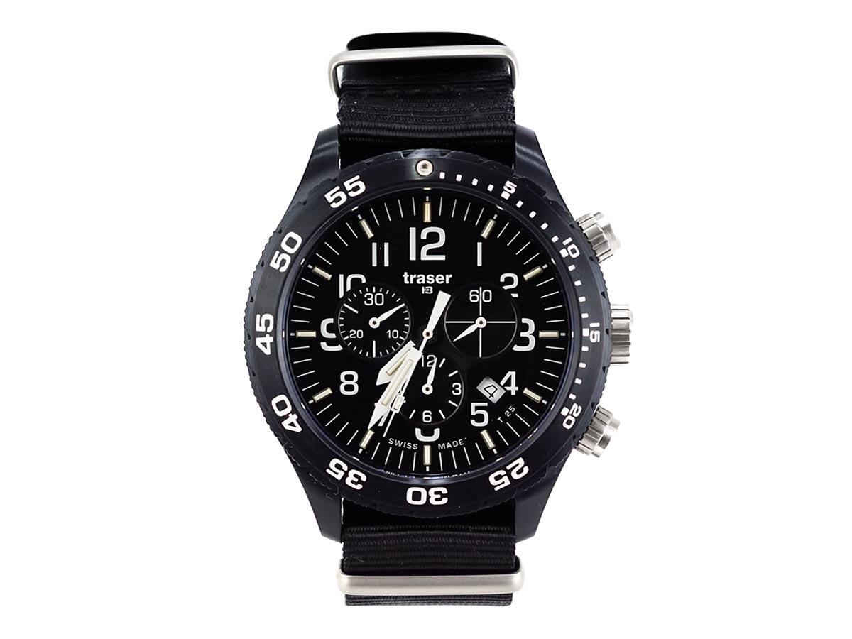 TRASER トレーサー メンズ腕時計 9031555 P6704 Officer Chrono ブラック ミリタリーウォッチ 【送料無料 並行輸入品】