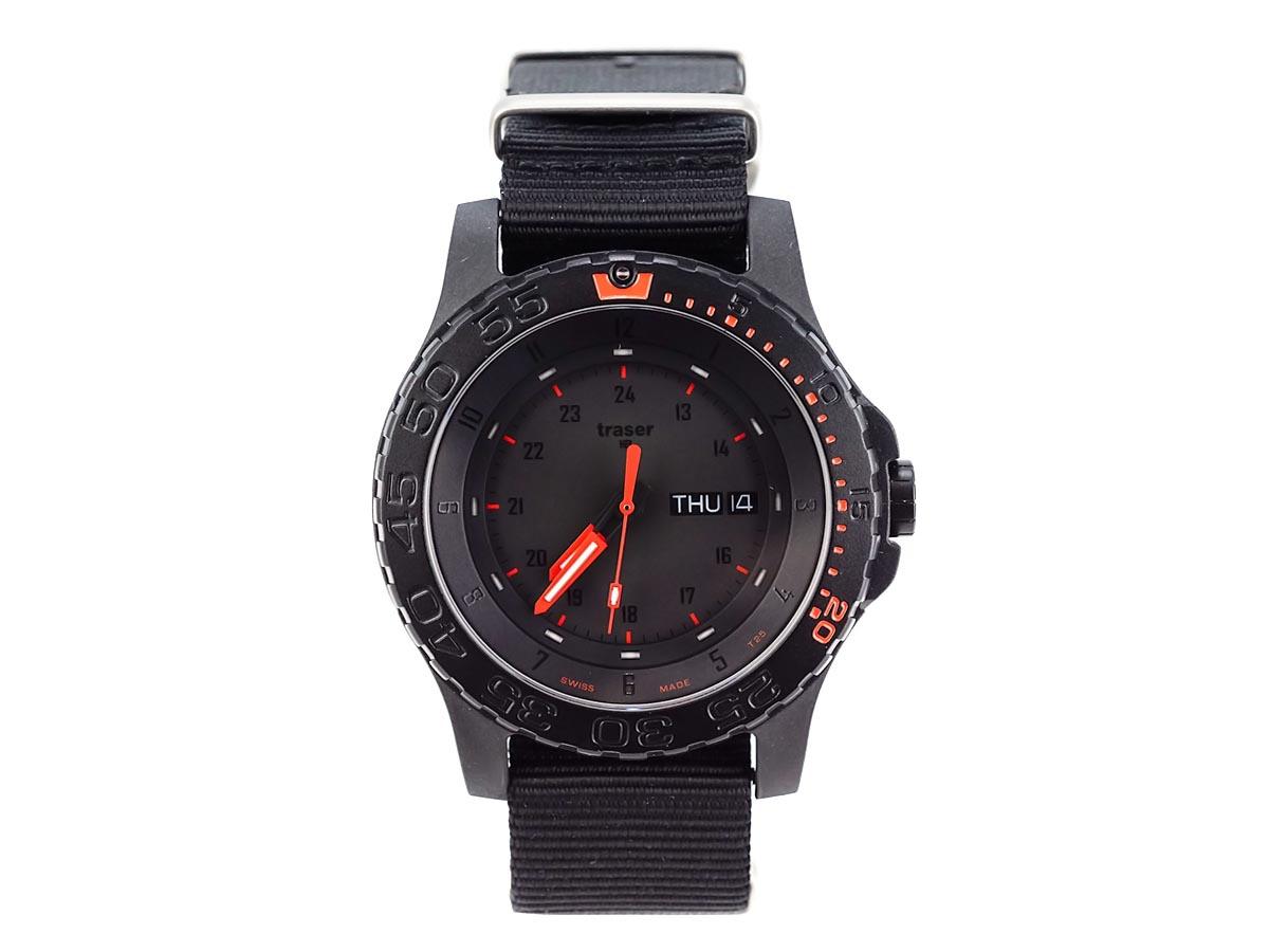 TRASER トレーサー メンズ腕時計 9031558 P6600 MIL-G RED COMBAT ミリタリーウォッチ 【送料無料 並行輸入品】