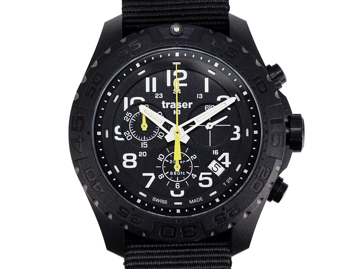 TRASER トレーサー メンズ腕時計 9031560 Outdoor Pioneer Chrono ブラック ミリタリーウォッチ アウトドアパイオニア 【送料無料 並行輸入品】