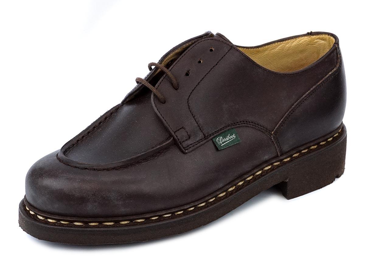 PARABOOT パラブーツ 革靴 CHAMBORD 710707 メンズ 男性 ローファー シューズ Uチップ CAFE ブラウン 【送料無料 並行輸入品】