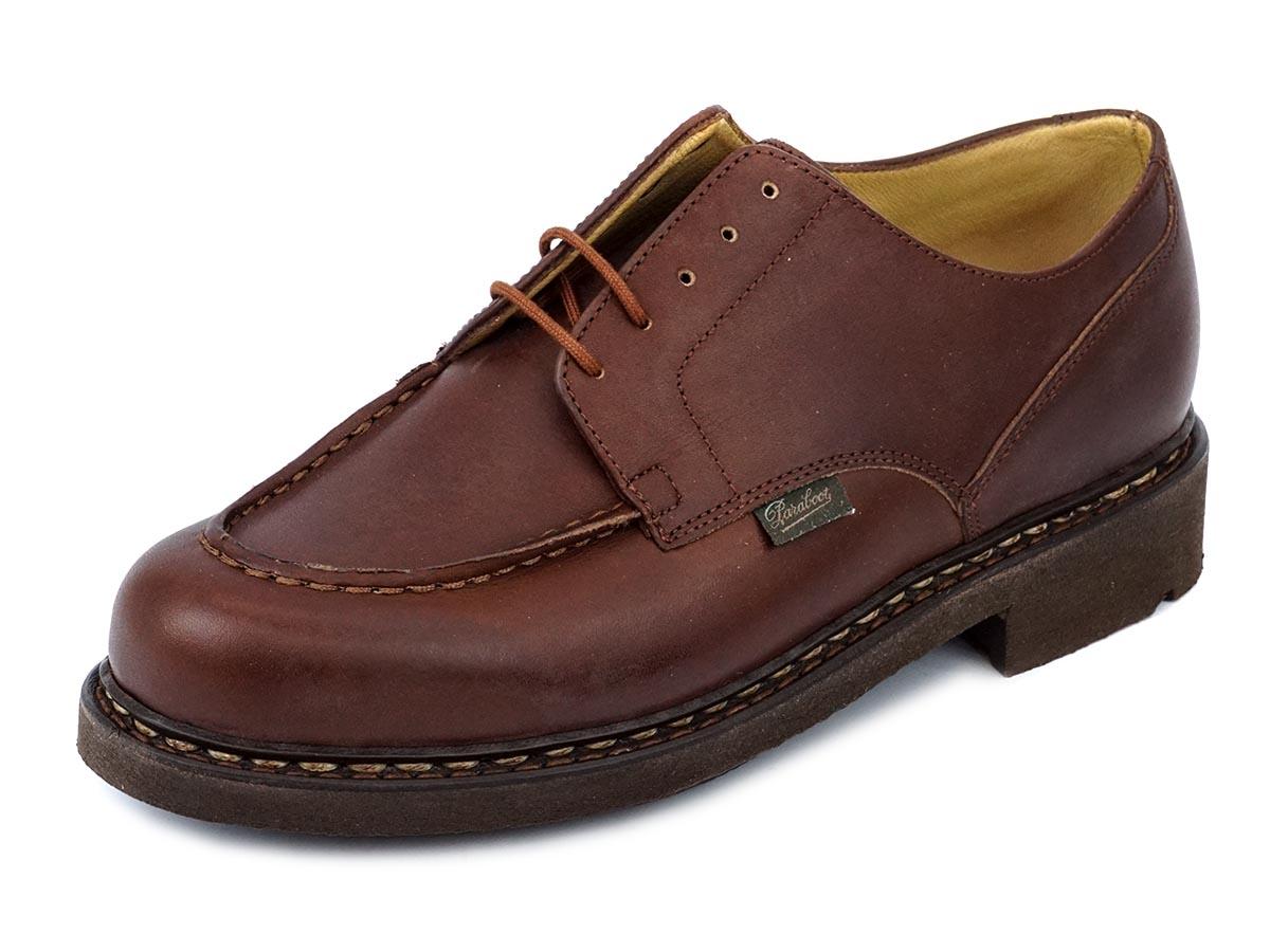 PARABOOT パラブーツ 革靴 CHAMBORD 710708 メンズ 男性 ローファー シューズ Uチップ MARRON ライトブラウン 【送料無料 並行輸入品】