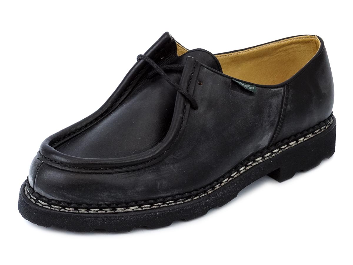 PARABOOT パラブーツ 革靴 MICHAEL 715604 メンズ 男性 ローファー シューズ NOIR ブラック 【送料無料 並行輸入品】