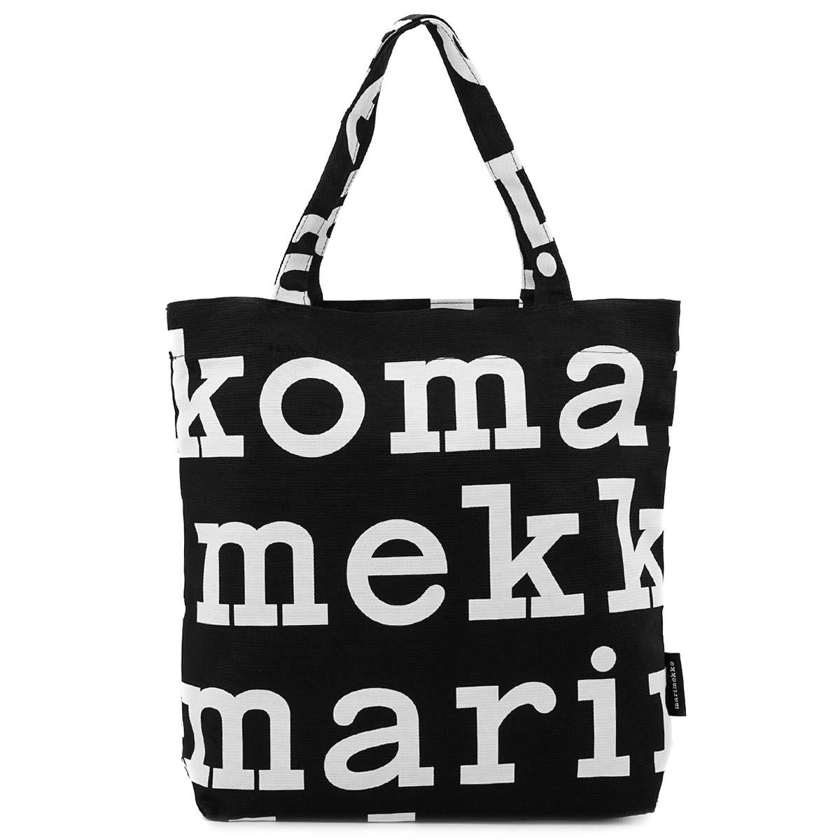 送料無料 marimekko マリメッコ レディース トートバッグ 新着 お買い物マラソン ポイント5倍 OFF 911 LOGO BLACK 47312 WHITE 定番 NOTKO